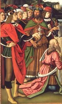 Perugino, Adorazione dei Magi. Perugia, Galleria Nazionale dell'Umbria - particolare